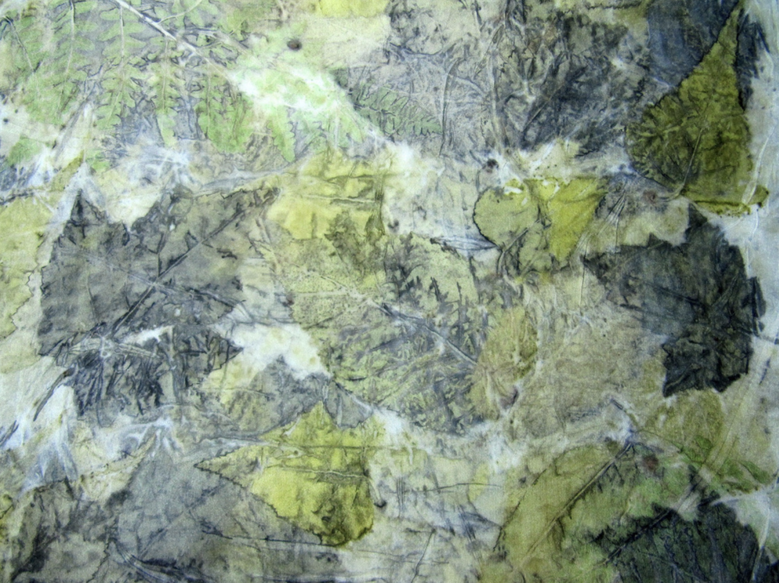Textiles green leaves